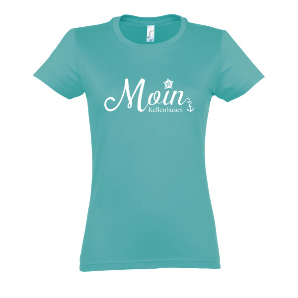 """T-Shirt """"Moin Kellenhusen""""- türkis"""