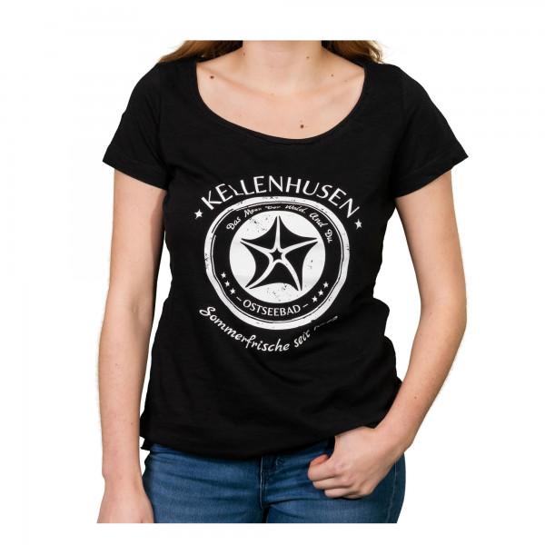 """T-Shirt Oversized """"Stempel"""" - schwarz"""