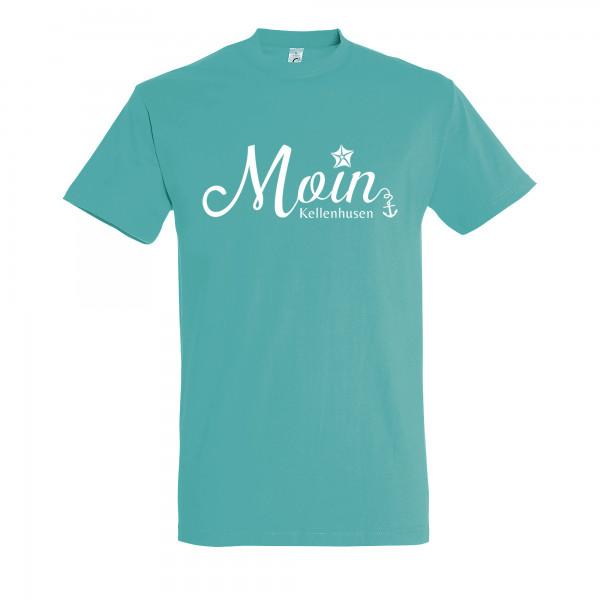 """T-Shirt """"Moin Kellenhusen"""" - türkis"""