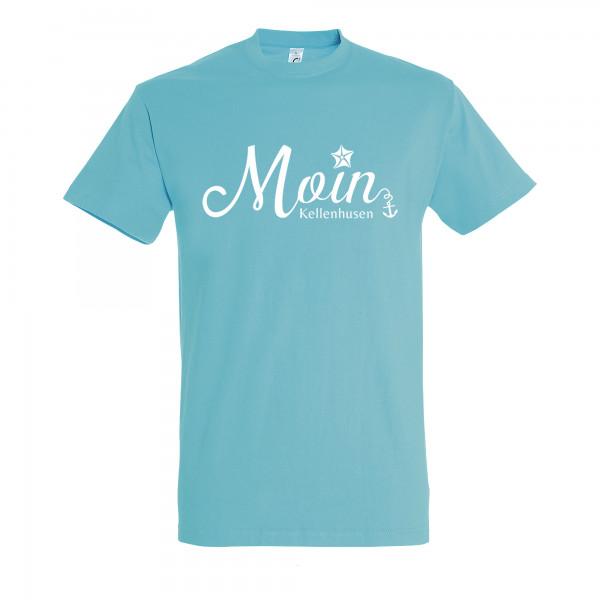 "T-Shirt ""Moin Kellenhusen"" - ice blau"