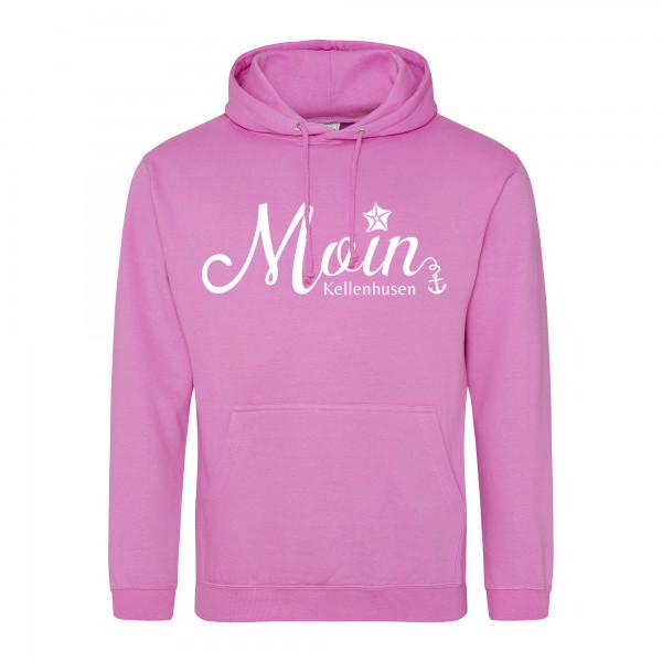 "Hoodie unisex ""Moin Kellenhusen"" - pink"